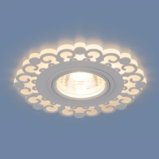 Точечный светодиодный светильник 2196 MR16 WH белый