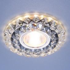 Встраиваемый потолочный светильник со светодиодной подсветкой 2170 MR16 SBK CL дымчатый прозрачный