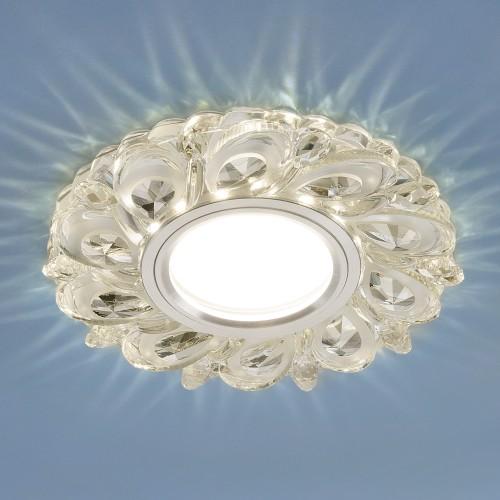 Встраиваемый потолочный светильник с LED подсветкой 2219 MR16 CL прозрачный