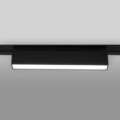Трековый светодиодный светильник для однофазного шинопровода X-Line10W 4200K черный матовый X-Line черный матовый 10W 4200K (LTB53) однофазный