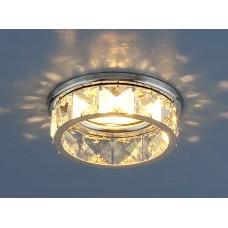 Светильник точечный с хрусталем 7275 MR16 CH/CL хром/прозрачный