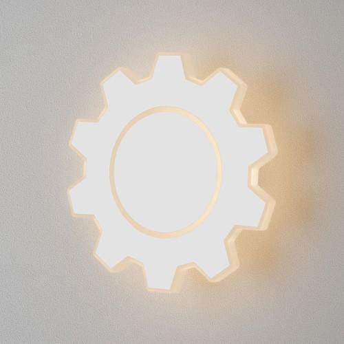 Gear M LED белый Настенный светодиодный светильник MRL LED 1095