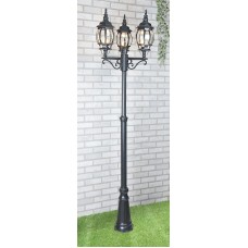 Уличный трехрожковый светильник на столбе IP33 NLG99HL005 черный