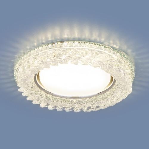 Встраиваемый точечный светильник с LED подсветкой 3024 GX53 CL прозрачный