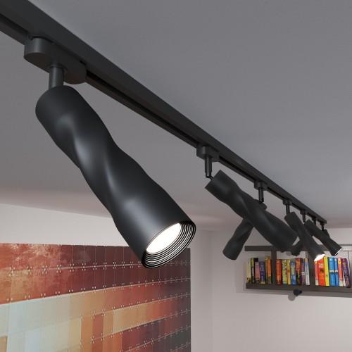 Трековый светодиодный светильник для однофазного шинопровода Royal Черный 5W 4200K LTB26