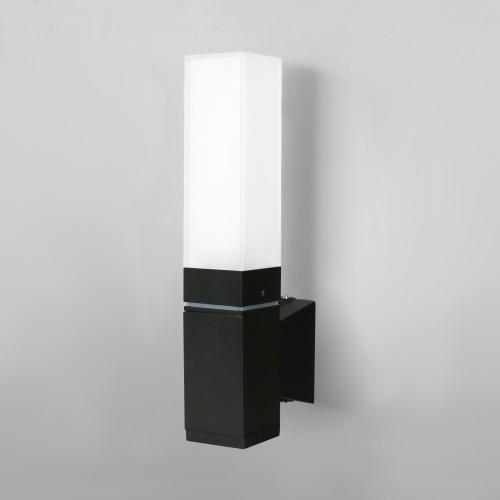 Уличный настенный светодиодный светильник Чёрный IP54 1534 TECHNO LED