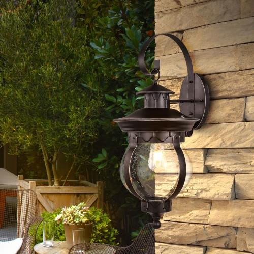 Barrel D черное золото уличный настенный светильник GL 1025D