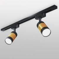 Трековый светильник для однофазного шинопровода Mizar GU10 Черный/золото MRL 1007