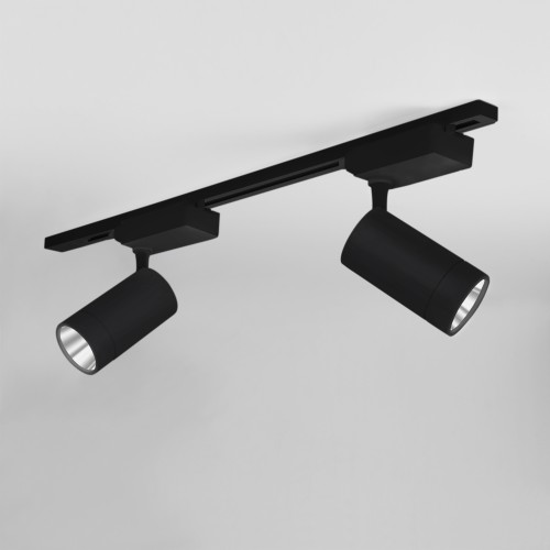 Трековый светодиодный светильник для однофазного шинопровода Baril Черный 40W 4200K LTB47