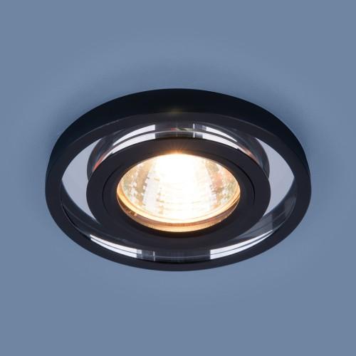 Точечный светодиодный светильник 7021 MR16 SL/BK зеркальный/черный