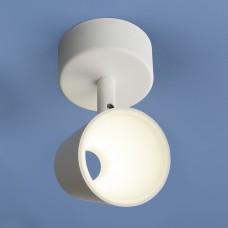 Настенно-потолочный светодиодный светильник DLR025 5W 4200K белый матовый