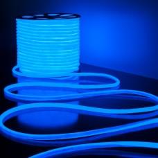 Светодиодный гибкий неон LS003 220V 9.6W 144Led 2835 IP67 круглый синий 6500К
