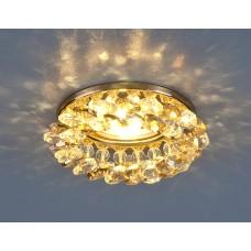 Светильник точечный с хрусталем 206 MR16 GD/GC золото/тонированный