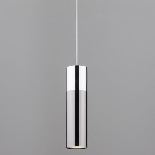 Накладной потолочный светодиодный светильник 50135/1 LED хром/черный жемчуг