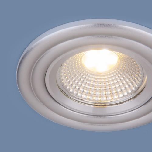 Встраиваемый потолочный LED светильник 9902 LED 3W COB SL серебро
