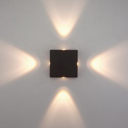 Kvatra черный уличный настенный светодиодный светильник 1601 TECHNO LED