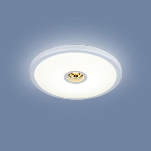 Встраиваемый потолочный светодиодный светильник 9912 LED 6+4W WH белый