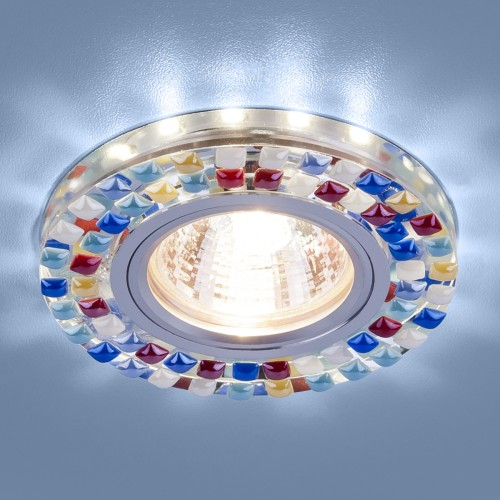 Точечный светодиодный светильник 2195 MR16 SL/MLT зеркальный/мульти