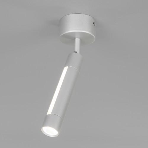 Настенно-потолочный светодиодный светильник 20084/1 LED серебро