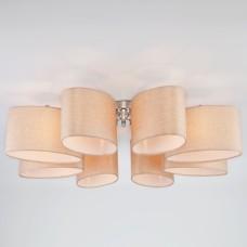 Потолочная люстра с овальными абажурами 60083/8 хром
