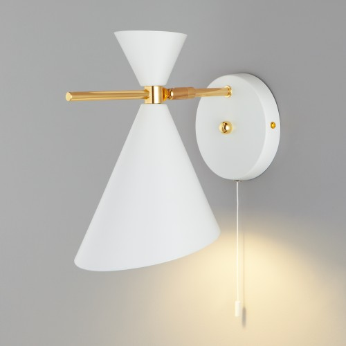 Настенный светильник с металлическим абажуром 70114/1 белый