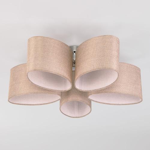 Потолочная люстра с овальными абажурами 60083/5 хром
