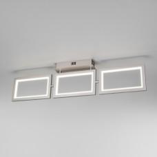 Потолочный светодиодный светильник 90223/3 матовое серебро