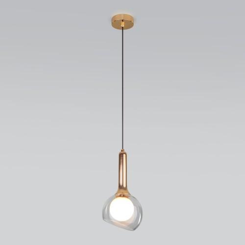 Подвесной светильник со стеклянным плафоном 50188/1 золото