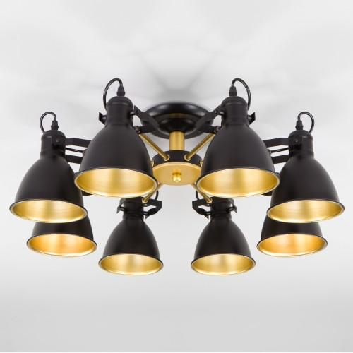 Потолочная люстра с поворотными рожками 70112/8 черный