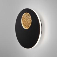 Настенный светодиодный светильник 40150/1 LED черный /золото