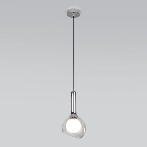Подвесной светильник со стеклянным плафоном 50188/1 хром
