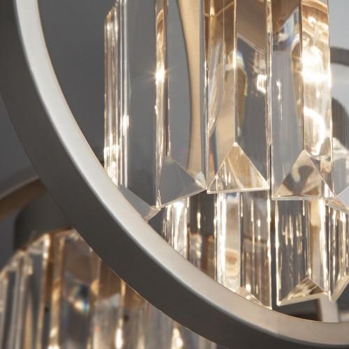 Потолочная люстра с хрусталем 10095/8 сатин-никель/прозрачный хрусталь Strotskis