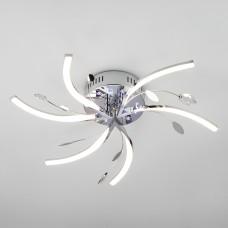 Светодиодный потолочный светильник с подсветкой и пультом ДУ 90125/6 хром