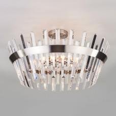 Потолочный светильник с хрусталем 10111/8 сатин-никель / прозрачный хрусталь Strotskis