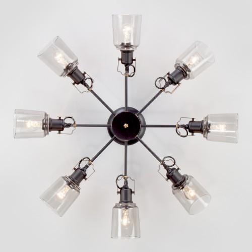 Потолочная люстра в стиле лофт 70111/8 черный