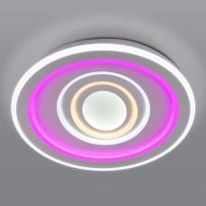 Потолочный светодиодный светильник с цветной подсветкой 90214/1 белый