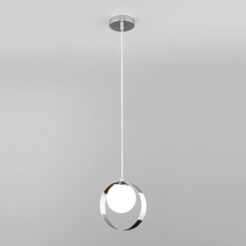 Подвесной светильник со стеклянным плафоном 50205/1 хром