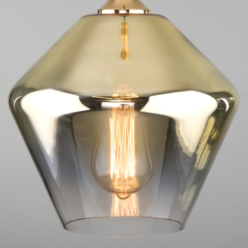 Подвесной светильник со стеклянным плафоном 50198/1 золото