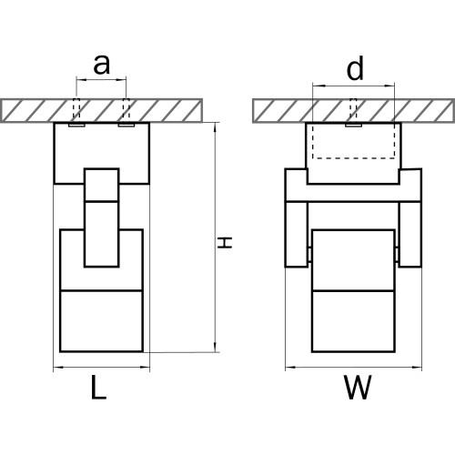 051047-IP65 Светильник ILLUMO L1 HP16 ЧЕРНЫЙ (в комплекте)