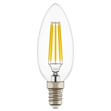933502 Лампа LED FILAMENT 220V C35 E14 6W=65W 400-430LM 360G CL 3000K 30000H (в комплекте)