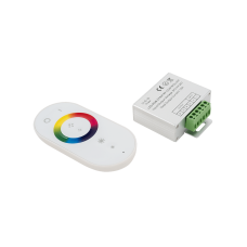 Led controller touch DELUCE 18А, 12/24 Вольт, RF-RGB-S-18A-WH1