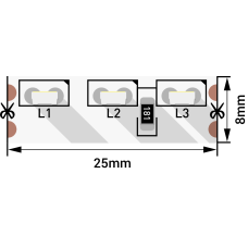 Лента светодиодная стандарт 315, 120 LED/м, 9,6 Вт/м, 12В , IP20, Цвет: Холодный белый