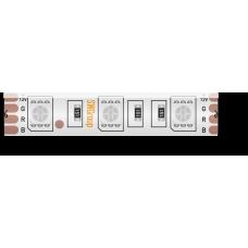 Лента светодиодная стандарт 5050, 60 LED/м, 14,4 Вт/м, 12В , IP65, Цвет: RGB