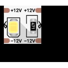 Лента светодиодная стандарт 2835, 100 LED/м, 24 Вт/м, 12В , IP20, Цвет: Нейтральный белый
