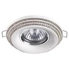 370440 NT19 114 белый Встраиваемый светильник IP20 GU10 50W 220V LILAC
