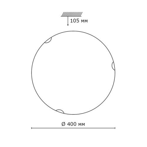208 SN 104 св-к VUALE стекло E27 2*100Вт D400