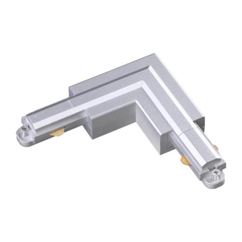 """135083 NT19 016 серебро Соединитель """"L"""" с токопроводом для однофазного шинопровода IP20 220V"""
