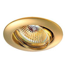 369102 NT09 135 золото Встраиваемый светильник IP20 GX5.3 50W 12V CROWN