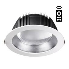 358336 NT19 000 белый/серебро Встраиваемый диммируемый св-к с пультом ДУ IP20 LED 2700~5000К 35W 220