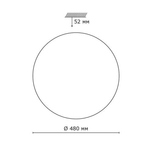 2043/EL SN 091 св-к MODES пластик LED 72Вт 3000-6000K D480 IP43 пульт ДУ